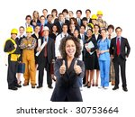 business woman and business... | Shutterstock . vector #30753664