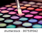 colorful makeup palette with... | Shutterstock . vector #307539362