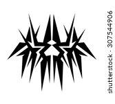 tribal tattoo vector design... | Shutterstock .eps vector #307544906