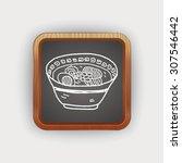 noodle doodle | Shutterstock .eps vector #307546442