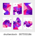 abstract colorful user... | Shutterstock .eps vector #307553186