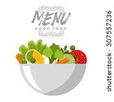 vegetarian menu design  vector... | Shutterstock .eps vector #307557236