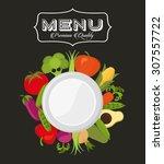 vegetarian menu design  vector... | Shutterstock .eps vector #307557722