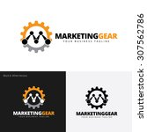 m letter  marketing gear logo... | Shutterstock .eps vector #307562786