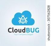cloud bug logo template   Shutterstock .eps vector #307562828