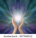 sensing  healing energy  ... | Shutterstock . vector #307568312