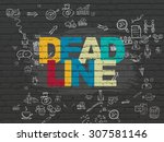 business concept  deadline on... | Shutterstock . vector #307581146