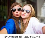 close up lifestyle selfie... | Shutterstock . vector #307596746