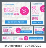 big  half price and one day... | Shutterstock .eps vector #307607222