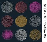 Seamless Circle Pattern. Vector ...