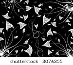 abstract floral pattern with... | Shutterstock .eps vector #3076355
