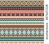 seamless ethnic indian pattern. ... | Shutterstock .eps vector #307637228
