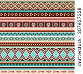 seamless ethnic indian pattern. ... | Shutterstock .eps vector #307637228