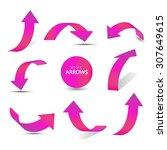 set of gradient arrow stickers   Shutterstock .eps vector #307649615