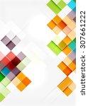 square shape mosaic pattern... | Shutterstock . vector #307661222