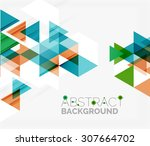 abstract geometric background.... | Shutterstock . vector #307664702