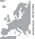 Grey Europe Vector Map With...