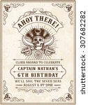 vintage looking invite template ... | Shutterstock .eps vector #307682282