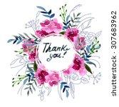 wildflowers blooming delicate... | Shutterstock . vector #307683962