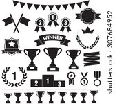 trophy and awards icon set ... | Shutterstock . vector #307684952