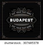 vintage logo template  hotel ... | Shutterstock .eps vector #307685378