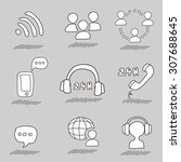 Call Center Hand Drawn Icons....