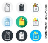 set of products bag icons in... | Shutterstock .eps vector #307690808