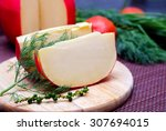 Edam Cheese And A Piece With...