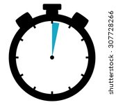 black and blue stopwatch icon... | Shutterstock . vector #307728266