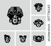 car engine vector icons  | Shutterstock .eps vector #307736165