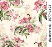 seamless pattern delicate...   Shutterstock . vector #307741628