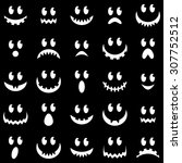 vector collection of spooky... | Shutterstock .eps vector #307752512