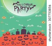 halloween  background | Shutterstock .eps vector #307753856