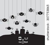halloween  spider | Shutterstock .eps vector #307753865