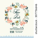 save the date card | Shutterstock .eps vector #307756646