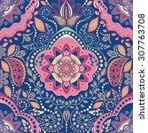 vector geometric seamless... | Shutterstock .eps vector #307763708