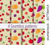 set of seamless vector patterns ... | Shutterstock .eps vector #307786415