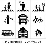 safety of children in traffic.... | Shutterstock .eps vector #307796795