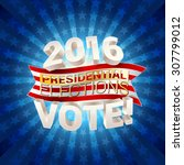 usa presidential elections... | Shutterstock .eps vector #307799012