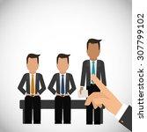 human resources digital design  ... | Shutterstock .eps vector #307799102