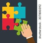 solution digital design  vector ... | Shutterstock .eps vector #307800392