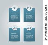 business infographics template... | Shutterstock .eps vector #307804256