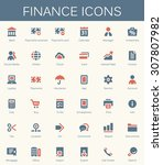 banking services and finance... | Shutterstock .eps vector #307807982