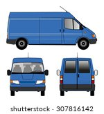 delivery car | Shutterstock . vector #307816142