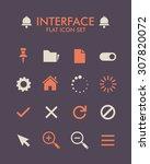 vector flat icon set   user... | Shutterstock .eps vector #307820072
