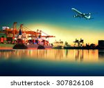 Cargo Plane Flying Above Ship...