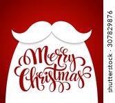 christmas typographic... | Shutterstock .eps vector #307829876
