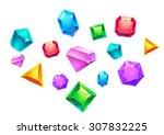 illustration  colorful falling... | Shutterstock . vector #307832225