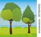 tree digital design  vector... | Shutterstock .eps vector #307834502