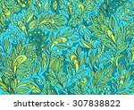 vector colorful floral hand... | Shutterstock .eps vector #307838822